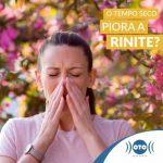 Does dry weather worsen rhinitis?